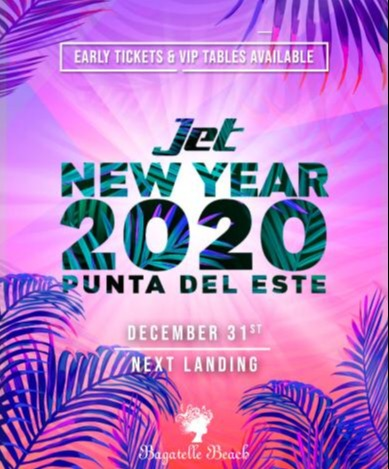 Jet New Year 2020 - Bagatelle Beach - Punta del Este - Club Bpremium.com.ar
