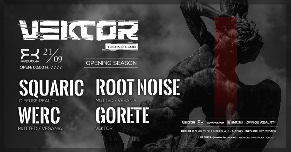 Vektor Techno Club • Squaric (Diffuse Reality) • Opening Season - Club Sala Republik