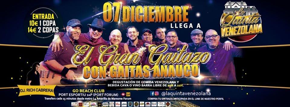 El Gran Gaitazo w/ Gaitas Anauco - Club Go Beach Club Barcelona