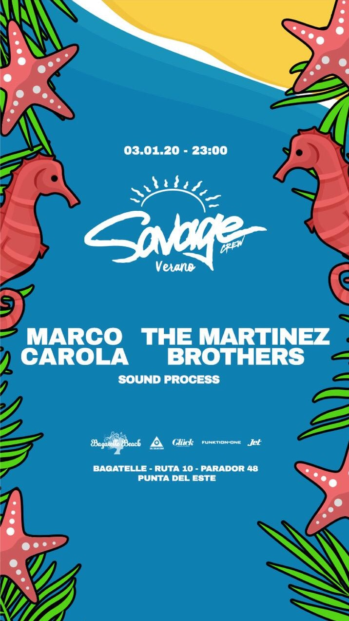 Crew Savage pres Marco Carola - The Martinez Brothers - Club Bpremium.com.ar