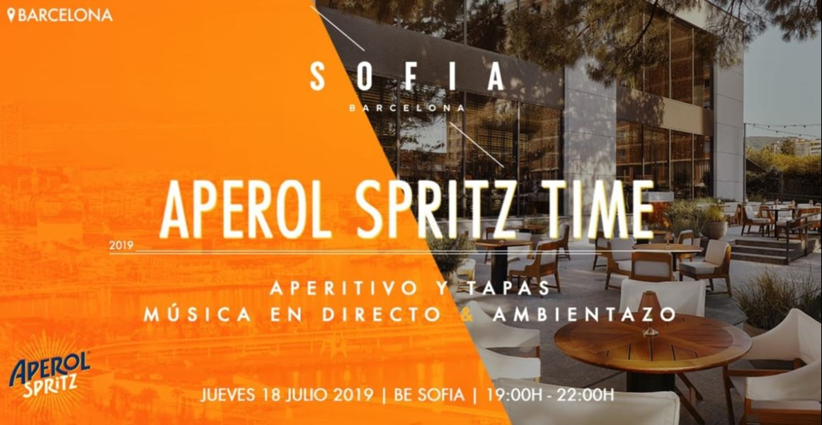 Aperol Spritz Time - Club Sofia Barcelona