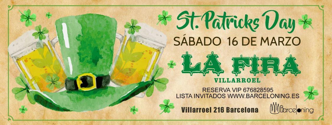 SAINT PATRICKS DAY - LA FIRA VILLARROEL  LA FIRA VILLARROEL
