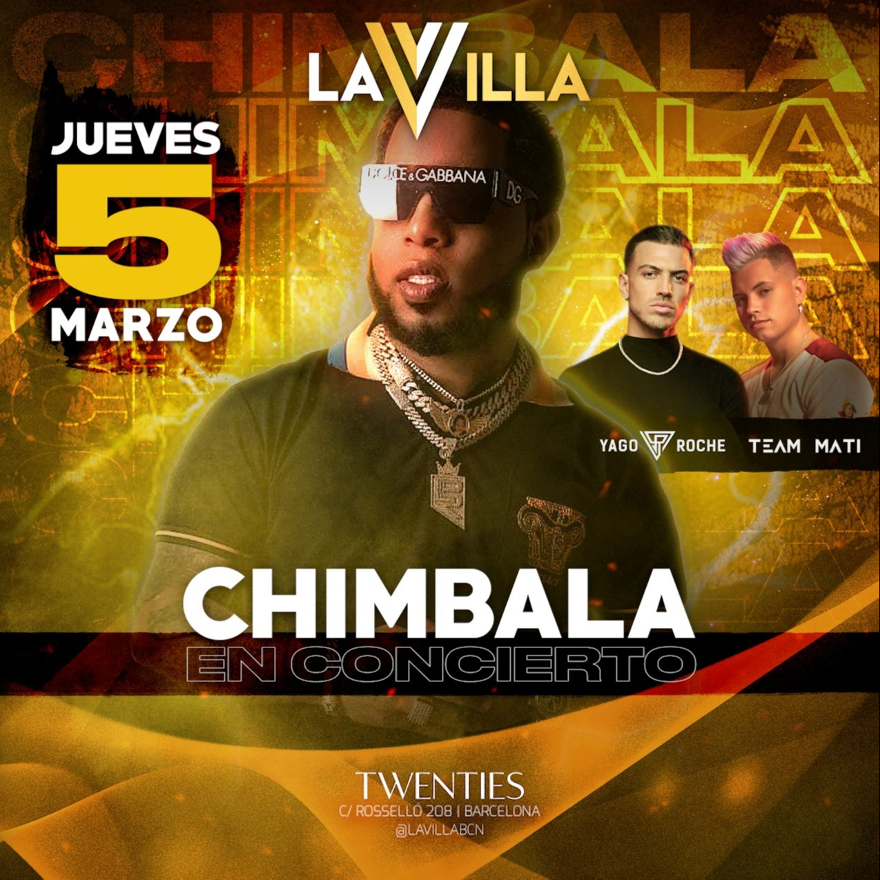Concierto Chimbala - Club Twenties Barcelona