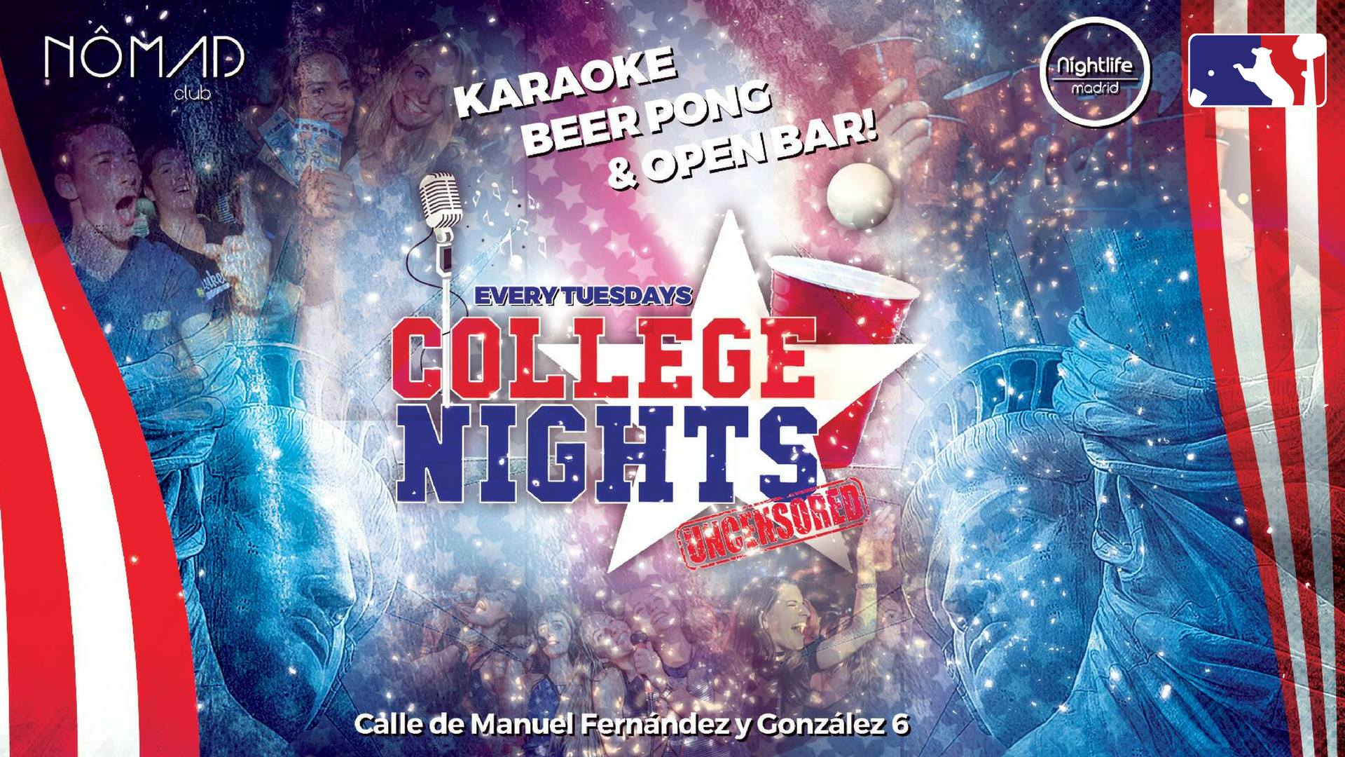 College Nights - Karaoke, Beer Pong & Open Bar - Club Nomad club
