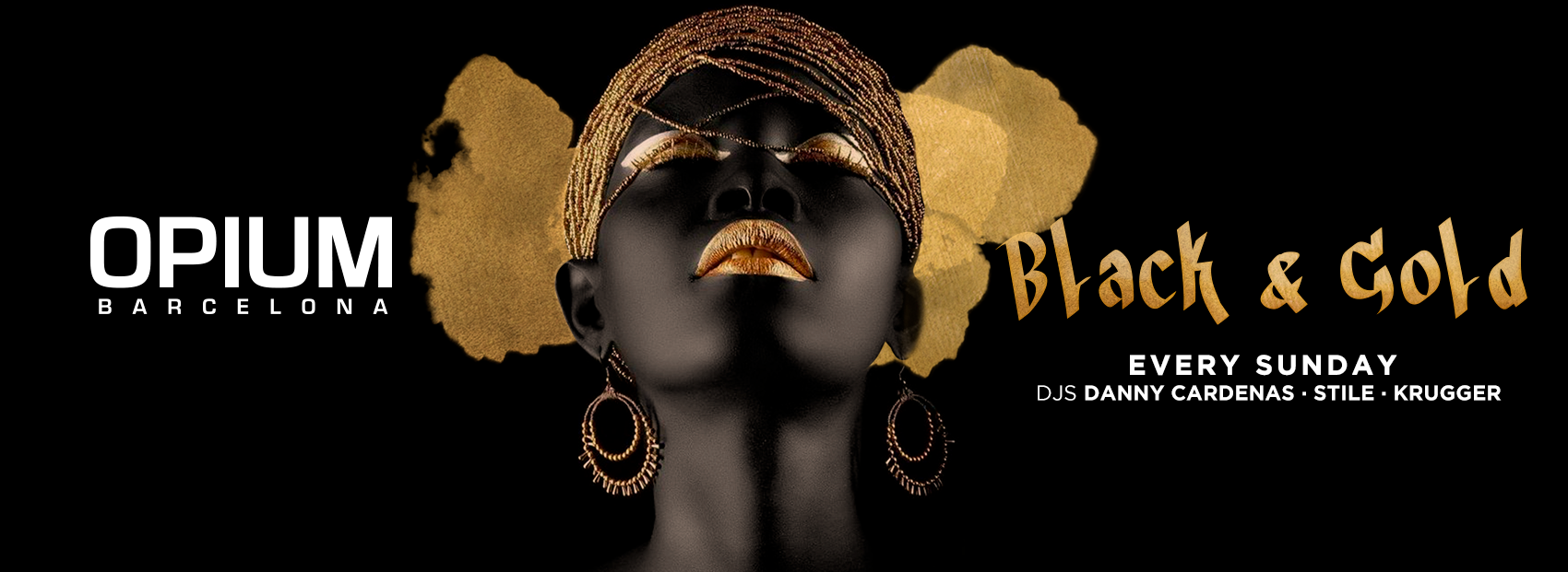 BLACK AND GOLD - Club Opium Barcelona