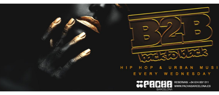 BACK2BLACK - Every Wednesday - Club Pacha Barcelona