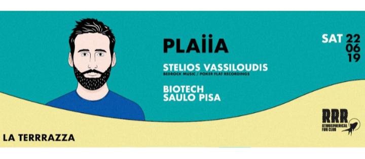 Opening PLAIIA w/ Stelios Vassiloudis, Biotech, Saulo Pisa - Club La Terrrazza