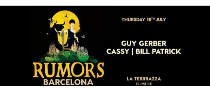 Rumors Barcelona | Off Week July Night Party 2019 - Club La Terrrazza