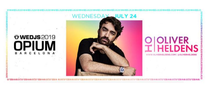 WEDJS 2019 - OLIVER HELDENS - Club Opium Barcelona
