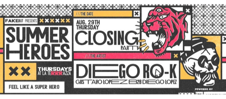 Summer Heroes Closing Party w/ Diego RO-K - Club La Terrrazza