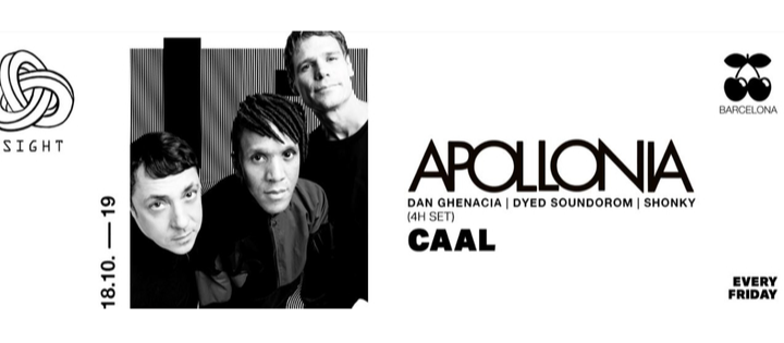SIGHT pres. Apollonia and Caal - Club Pacha Barcelona