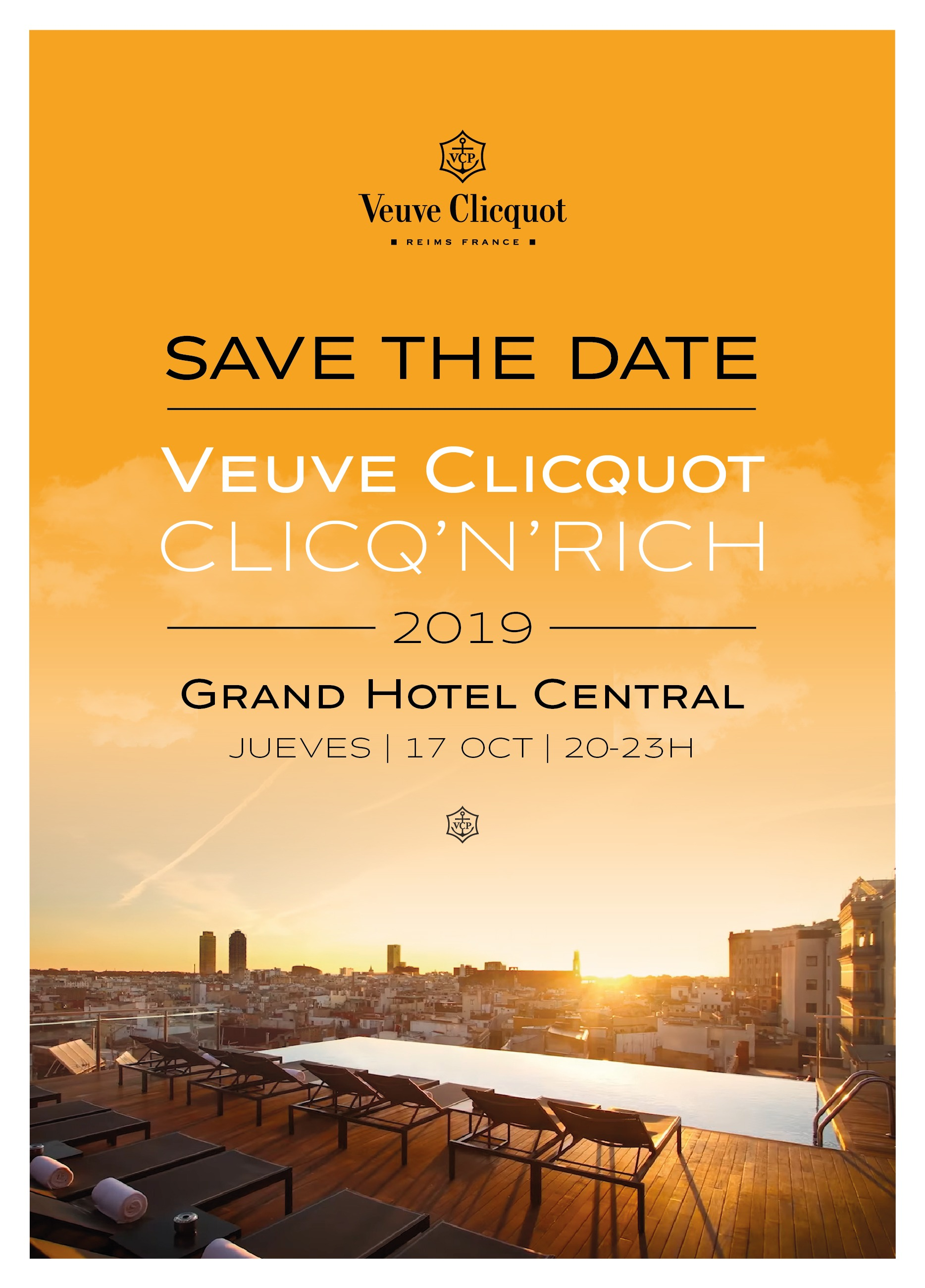 Veuve Clicquot - Clicq´n´Rich 2019 - Club Terraza Hotel Central