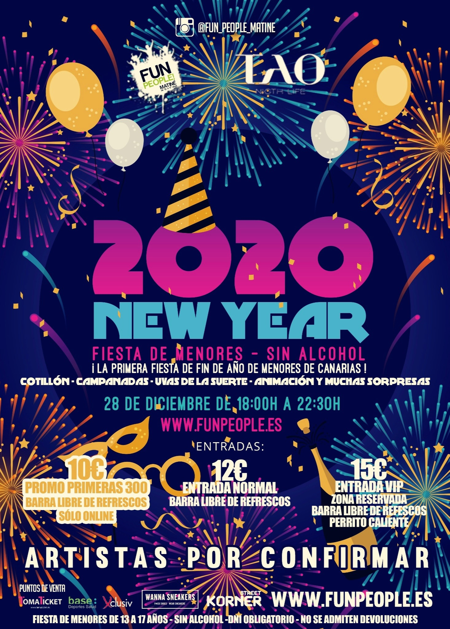 New Year 2020 (fiesta de menores)  - Club Fun People