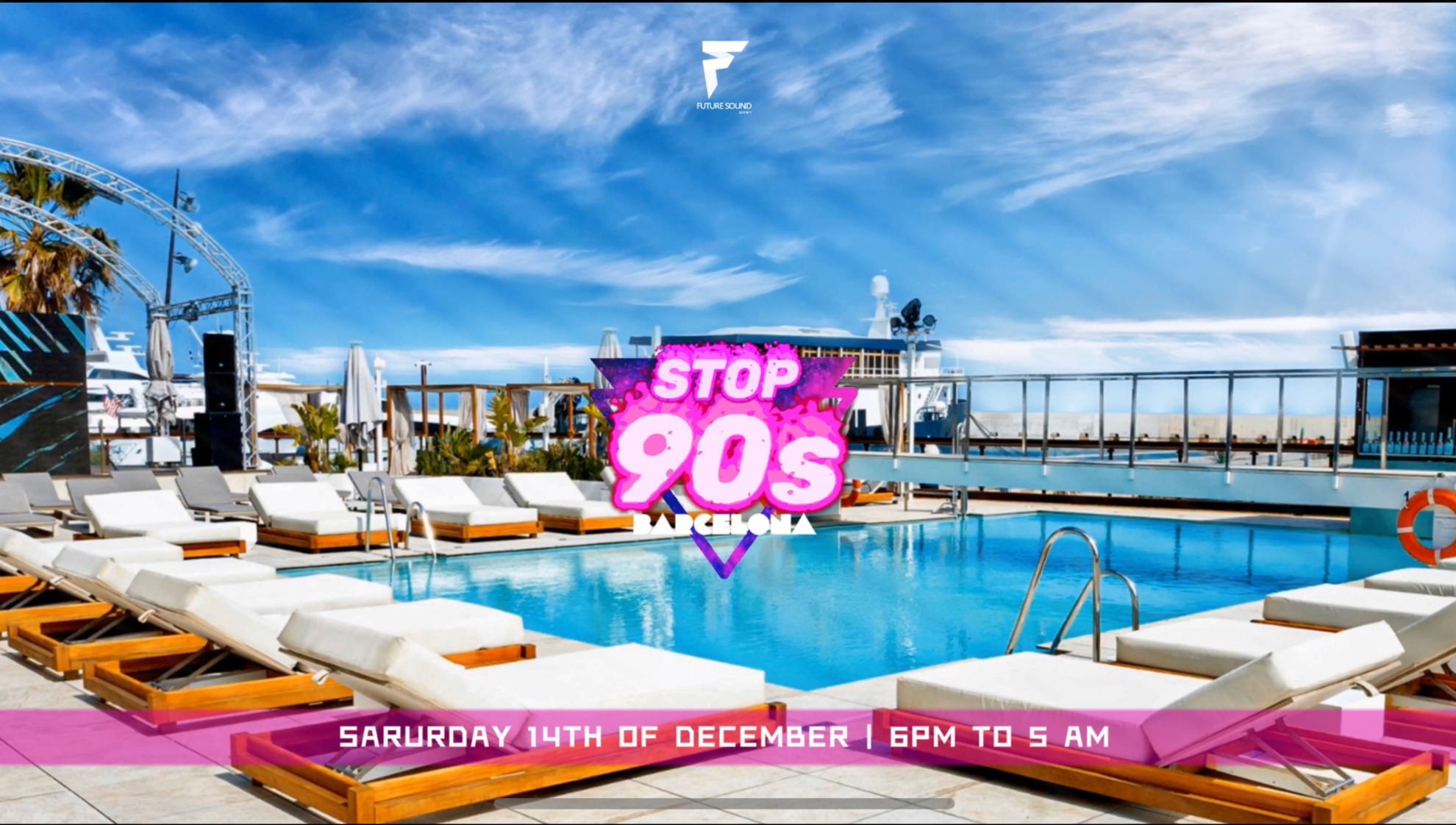 STOP 90'S GO BEACH CLUB BARCELONA