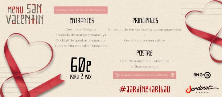 VALENTINE'S DAY JARDINET ARIBAU  EL JARDINET D'ARIBAU