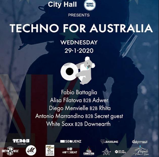 City Hall y Techno Festival pres. Techno For Australia - Club Cityhall