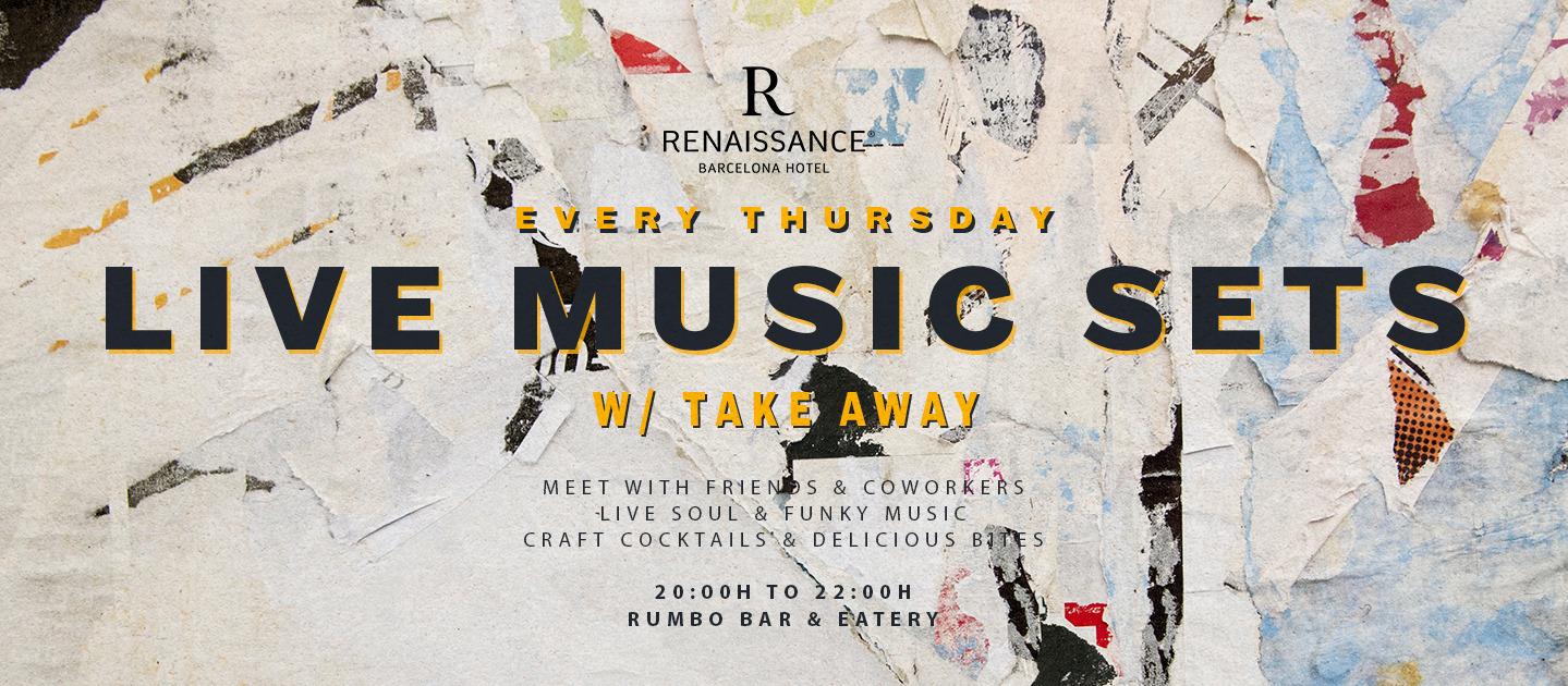 Live Music Sets - Club Renaissance Barcelona Hotel