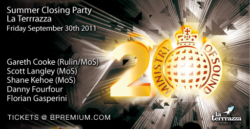 Ministry Of Sound Closing Party at La Terrrazza in Barcelona