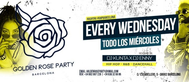 CADA MIERCOLES  - HIP HOP - Club Golden Rose Party