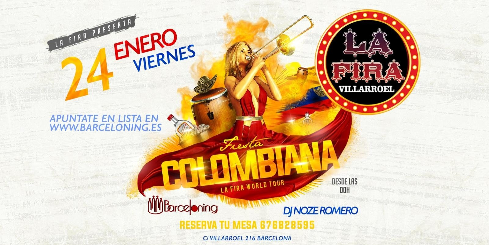 COLOMBIAN PARTY - Club LA FIRA VILLARROEL