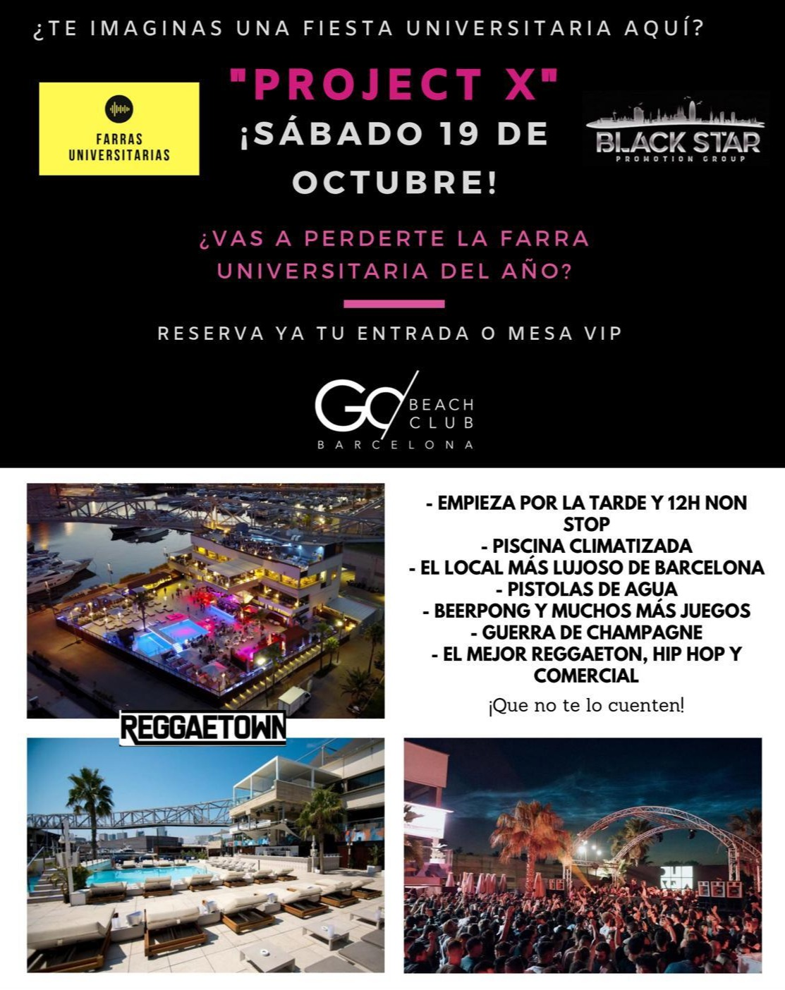Project X - Club Go Beach Club Barcelona