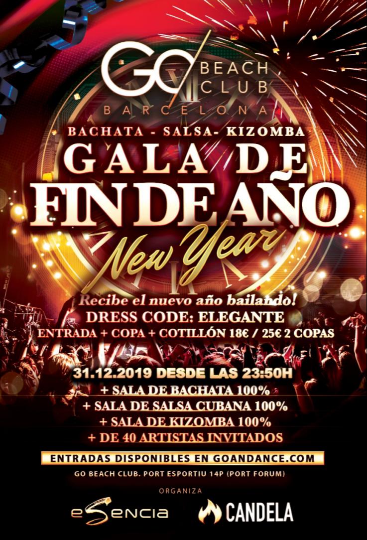 Gala Fin de Año Barcelona 2019-2020 - Bachata, Salsa y Kizomba - Club Go Beach Club Barcelona