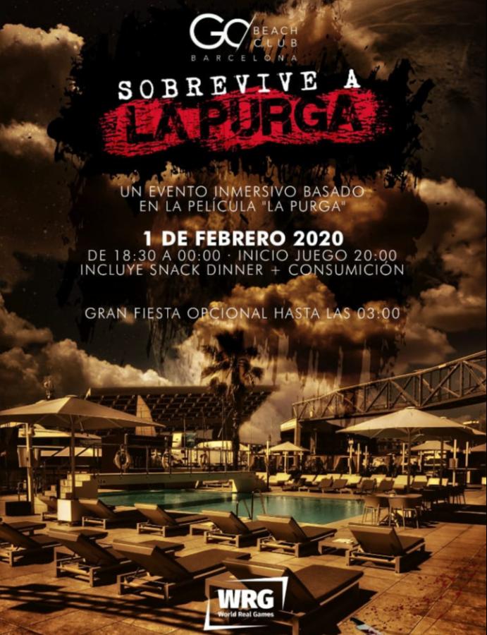 Sobrevive a La Purga - Club Go Beach Club Barcelona